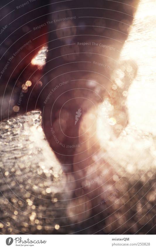 Platsch-Quatsch IV Kunst ästhetisch Zufriedenheit Schwimmen & Baden toben Meerwasser Wassertropfen spritzen Erholung Freiheit Freibad Nackte Haut Beine laufen