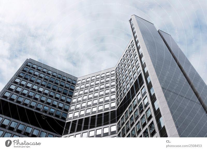 bürogebäude, essen Büro Wirtschaft Baustelle Business Unternehmen Himmel Wolken Schönes Wetter Stadt Essen Stadtzentrum Menschenleer Hochhaus Bankgebäude