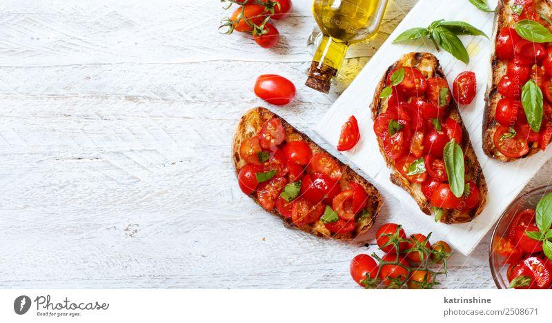 rot Holz Textfreiraum Ernährung frisch lecker Gemüse Tradition Brot Diät Mahlzeit Vegetarische Ernährung Scheibe schäbig Tomate rustikal