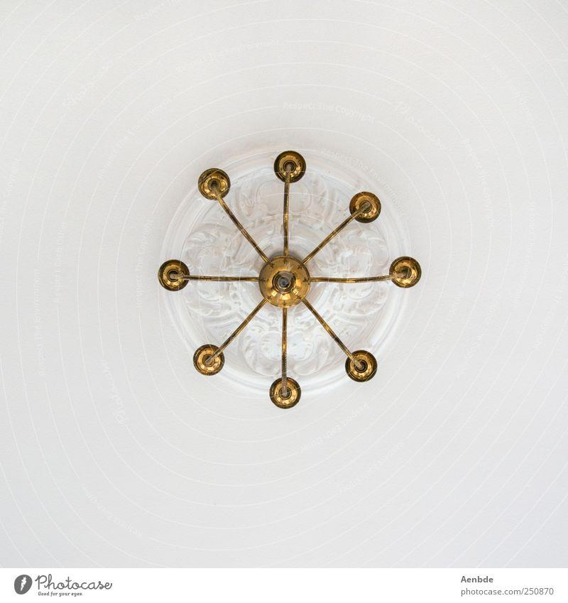 Kronleuchter weiß oben Gold ästhetisch Dekoration & Verzierung Stuck Messing Rosette