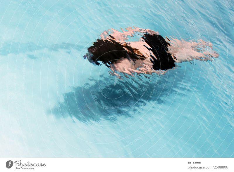 Abtauchen Mensch Ferien & Urlaub & Reisen Sommer blau schön Wasser Meer Erholung schwarz Leben feminin Bewegung Schwimmen & Baden Freizeit & Hobby Körper Wellen