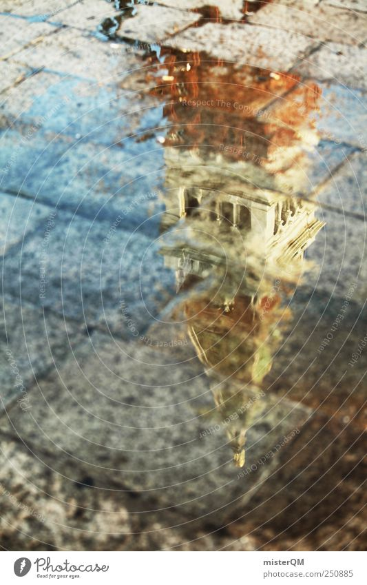 Markusturm. Kunst ästhetisch Surrealismus Vergangenheit Zeitreise Campanile San Marco Venedig Perspektive Markusplatz Tourismus Reisefotografie