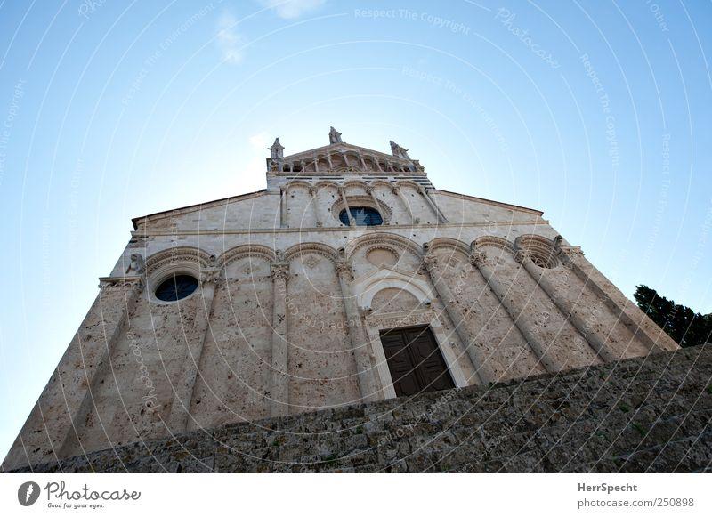 San Cerbone alt blau grau Architektur Stein Gebäude Fassade Treppe Kirche bedrohlich Italien Denkmal historisch Wahrzeichen Dom Sehenswürdigkeit