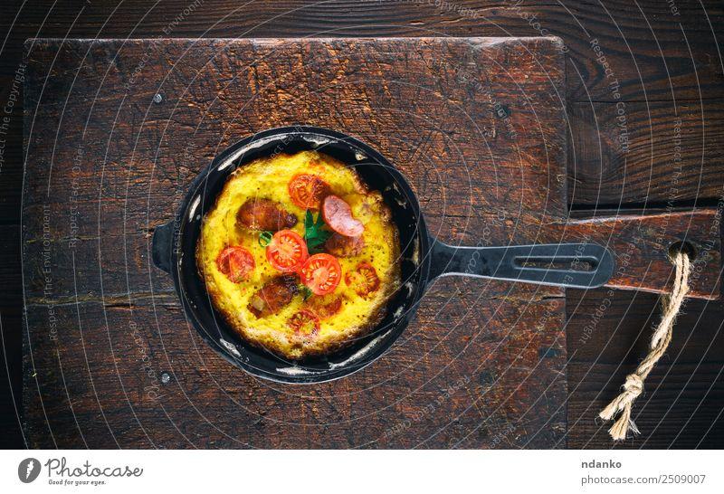 rot Speise Essen gelb braun oben frisch Tisch kochen & garen Gemüse Frühstück Tradition Essen zubereiten Abendessen Mahlzeit Top