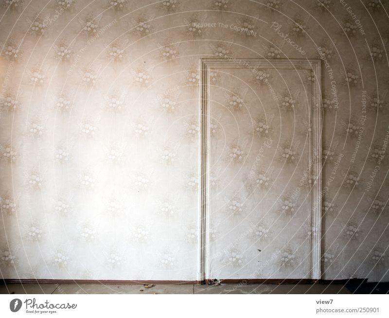 mimikry alt kalt Wand Mauer Linie Tür elegant Ordnung Häusliches Leben Streifen einzigartig außergewöhnlich Vergänglichkeit Tapete Vergangenheit Verfall