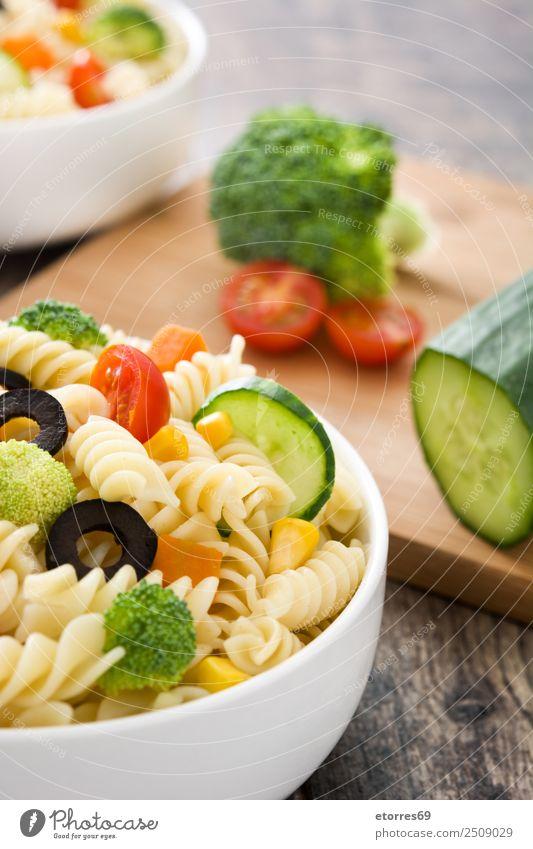 Nudelsalat Lebensmittel Gemüse Salat Salatbeilage Teigwaren Backwaren Ernährung Bioprodukte Vegetarische Ernährung Schalen & Schüsseln frisch Gesundheit gut