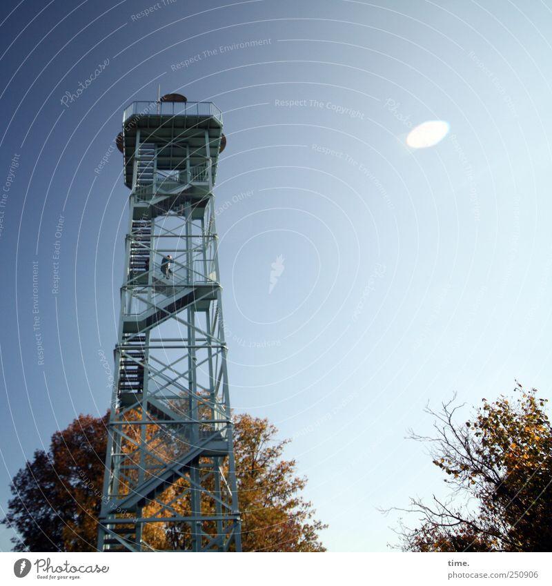 Gruppenfotovorrichtungsanlage   ChamanSülz Baum Ferne Landschaft Architektur Freiheit Metall Kunst hoch Treppe modern ästhetisch außergewöhnlich Turm Klettern Bauwerk Aussicht
