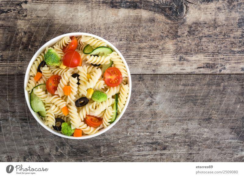 Nudelsalat Lebensmittel Gemüse Salat Salatbeilage Teigwaren Backwaren Ernährung Bioprodukte Vegetarische Ernährung Diät Schalen & Schüsseln Sommer frisch