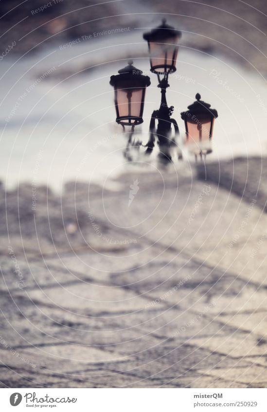 upside down. Himmel Ferien & Urlaub & Reisen träumen Kunst Platz ästhetisch Perspektive Romantik Italien Laterne Vergangenheit Surrealismus Pfütze seltsam