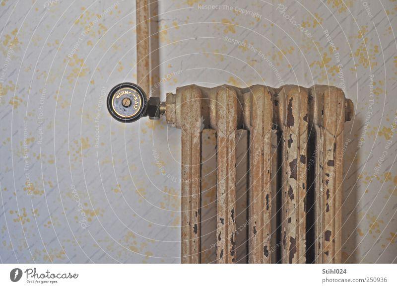 lieber wärmer als kälter Stil Häusliches Leben Wohnung Renovieren Tapete Handwerk Energiewirtschaft Mauer Wand Heizkörper Heizung Temperaturregler frieren retro