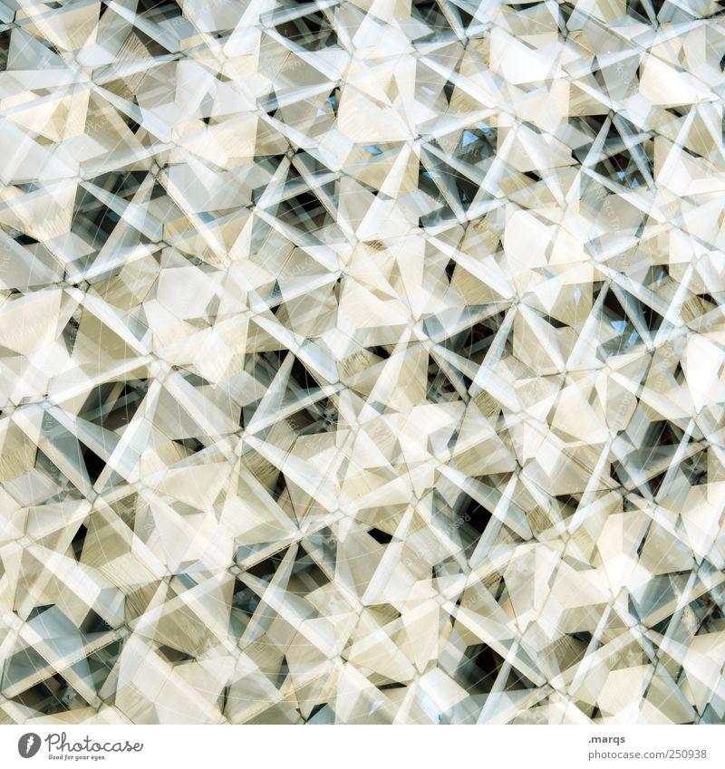 Origami Stil Design Fassade Ornament Linie außergewöhnlich hell trendy einzigartig modern viele weiß Ordnung Perspektive Surrealismus Zukunft Farbfoto