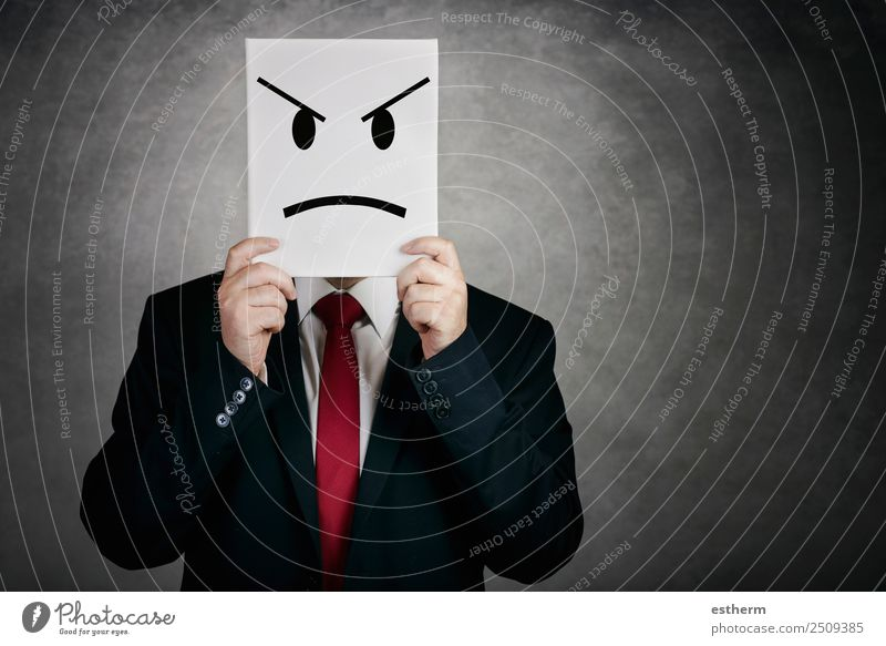 Mensch Jugendliche Mann Junger Mann Einsamkeit Erwachsene Lifestyle Traurigkeit Gefühle Business Arbeit & Erwerbstätigkeit Büro maskulin bedrohlich festhalten
