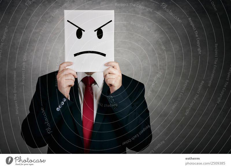 wütender Mann mit Whiteboard Lifestyle Arbeit & Erwerbstätigkeit Büro Business Unternehmen Arbeitslosigkeit Mensch maskulin Junger Mann Jugendliche Erwachsene 1