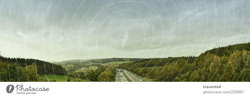 Irgendwo... Himmel Natur grün Wolken Einsamkeit Ferne Wald Landschaft Stimmung Feld Horizont Perspektive Hügel nah Sehnsucht Lastwagen