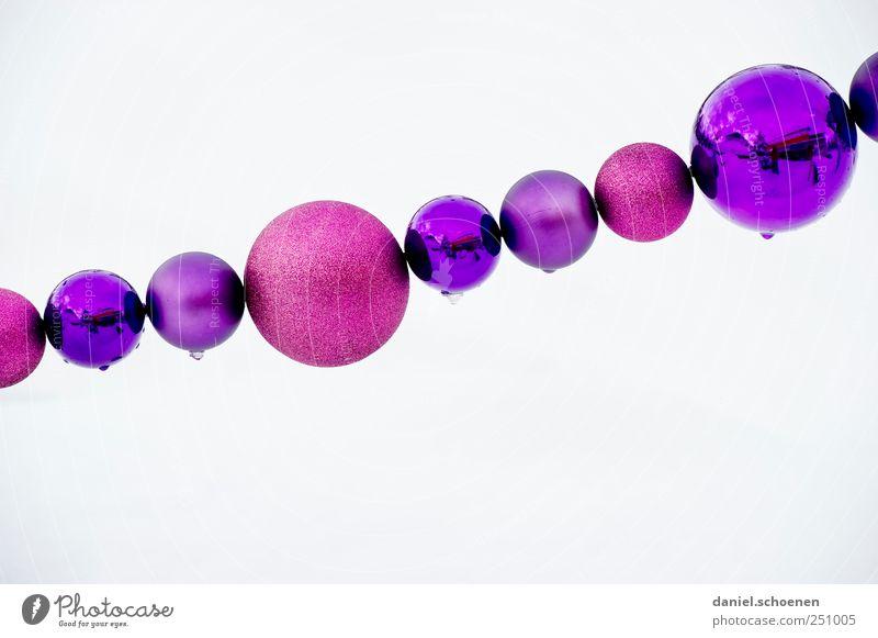 jetzt machen wir uns mal nichts vor !! Dekoration & Verzierung Eis Frost violett rosa weiß Weihnachten & Advent Weihnachtsdekoration Kugel Christbaumkugel rund