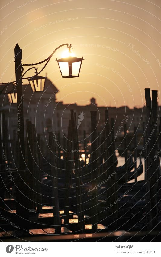 Venetian Sun. schön Ferien & Urlaub & Reisen ruhig Kunst Tourismus ästhetisch Hoffnung Romantik Reisefotografie Hafen Idylle Italien Laterne historisch