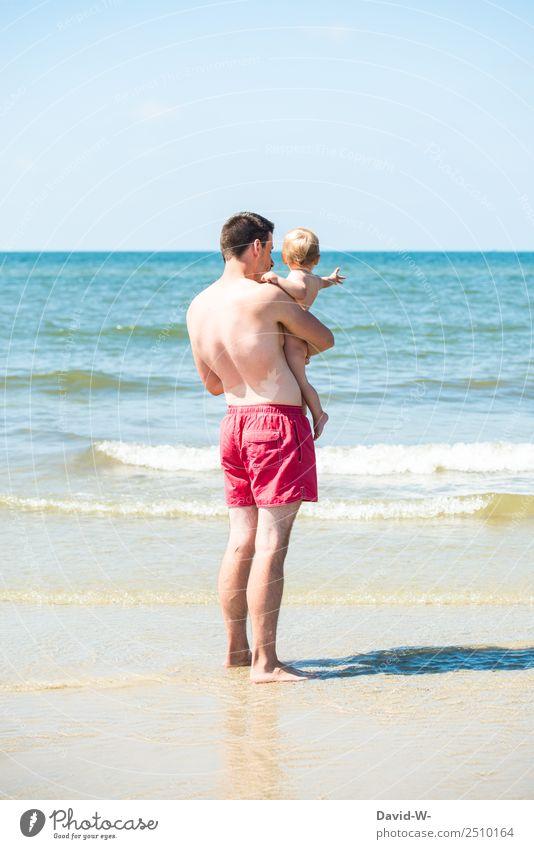 Papa zeig mir die Welt Ferien & Urlaub & Reisen Abenteuer Freiheit Sommer Sommerurlaub Mensch maskulin Kind Baby Kleinkind Junger Mann Jugendliche Erwachsene