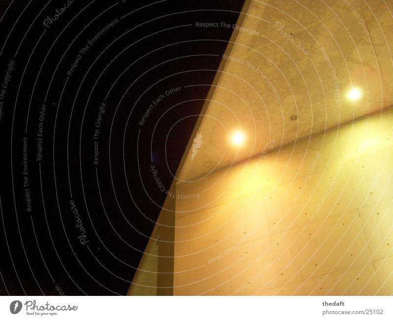 Ecke dunkel Gebäude hell Beleuchtung Architektur modern Ecke Bauwerk Scheinwerfer Bonn Museumsmeile