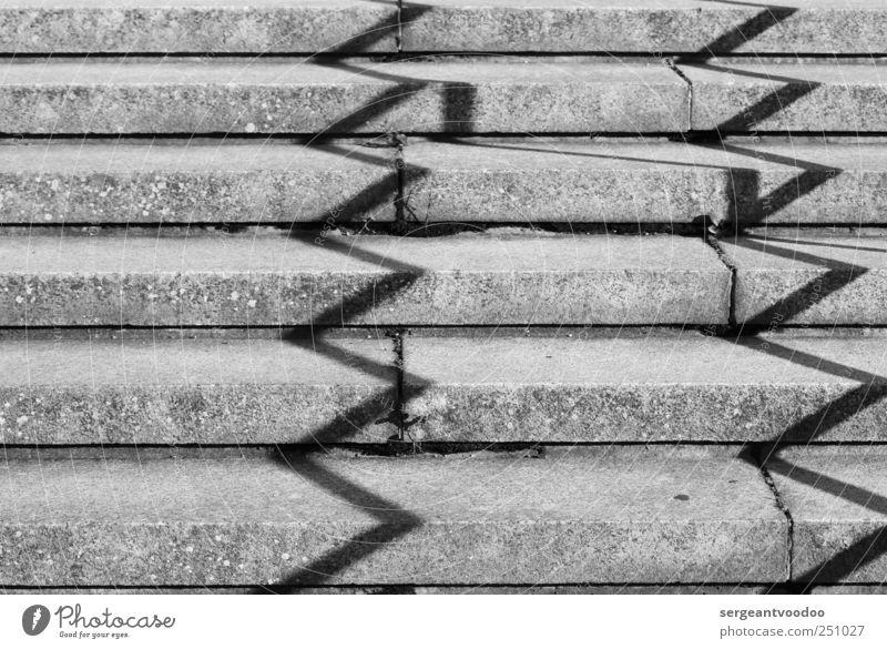 Chichén Itzá vor der Neuen Nationalgalerie Berlin Menschenleer Architektur Treppe Wege & Pfade Stein Beton Linie dunkel eckig einfach fest Spitze trist grau