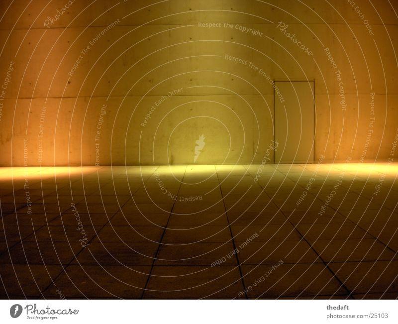 Wand Farbe Wand Mauer Gebäude Beleuchtung Architektur modern Bonn Lichtschein bestrahlen Museumsmeile Kunstmuseum