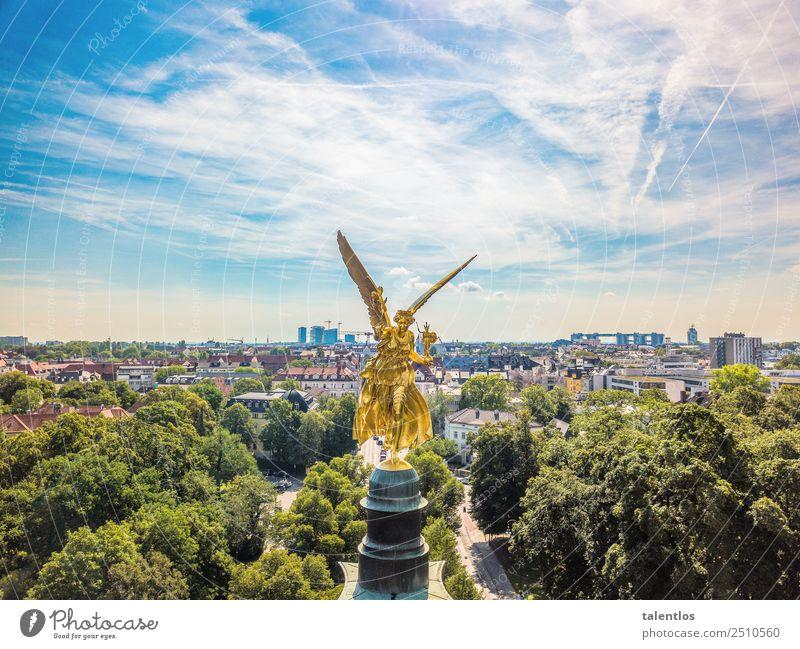 Friedensengel München alt Stadt Architektur Religion & Glaube Kunst Freiheit gold glänzend Kraft ästhetisch Fröhlichkeit Warmherzigkeit Zeichen Freundlichkeit