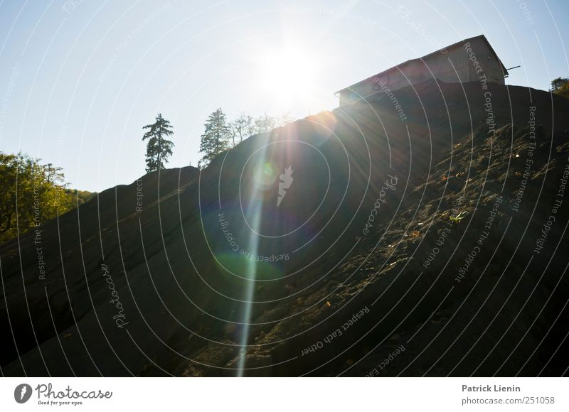 CHAMANSÜLZ | Lost Town Himmel Natur Baum Einsamkeit Umwelt Landschaft oben Gebäude Urelemente Hügel Bauwerk Denkmal Hütte Schönes Wetter bizarr Ruine