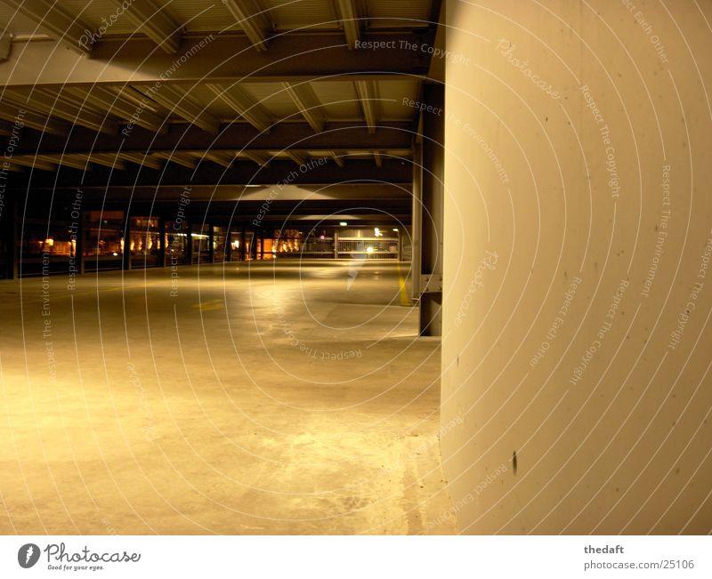 Parkdeck Garage Wand Licht Nacht Architektur Schatten