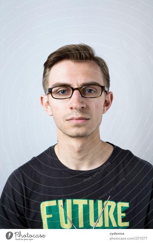 Future-Proof Mensch Jugendliche Gesicht Erwachsene Leben träumen Zufriedenheit lernen Studium Schriftzeichen Zukunft 18-30 Jahre Lifestyle einzigartig T-Shirt
