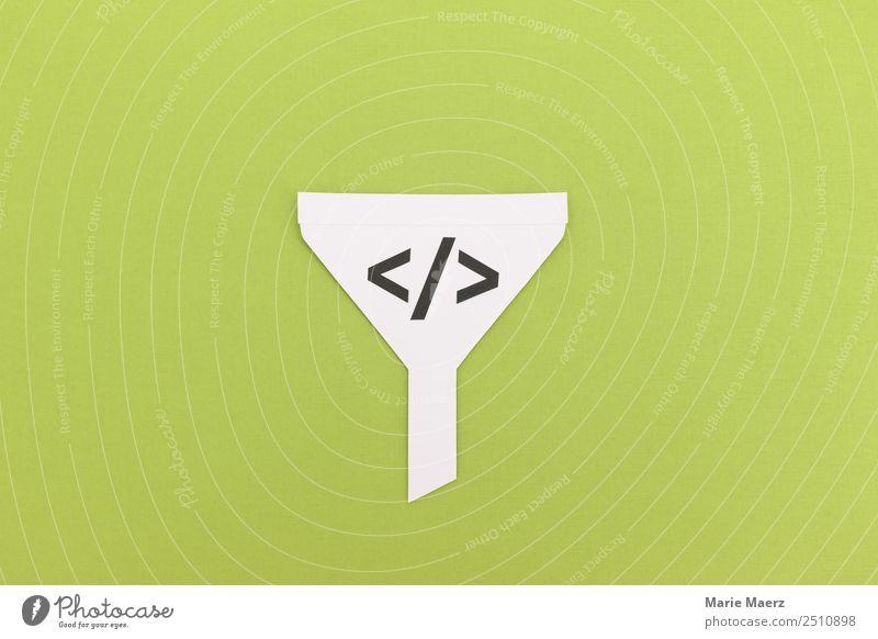 Funnel - Trichter Algorithmus grün Freiheit Arbeit & Erwerbstätigkeit Kommunizieren authentisch Information Netzwerk Internet Werbung Informationstechnologie