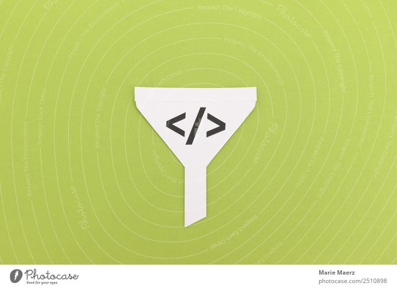 Funnel - Trichter Algorithmus Medienbranche Werbebranche Informationstechnologie Internet Arbeit & Erwerbstätigkeit Kommunizieren nerdig grün Verantwortung