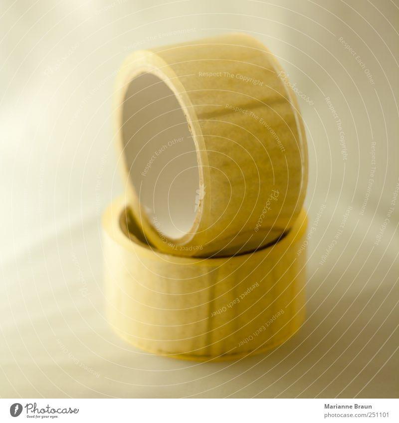 Klebeband Verpackung Kunststoff Billig rund gelb schwarz weiß durchsichtig Rolle Strukturen & Formen Klebstoff kleben kreisrund Kreis Sauberkeit Windung Farbe