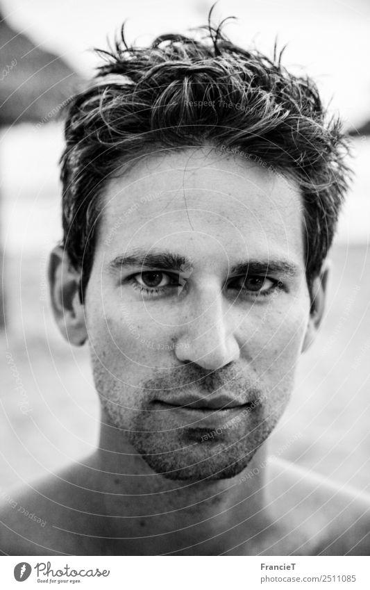 Surfer Boy Ferien & Urlaub & Reisen Sommer Sommerurlaub Strand Meer Mensch maskulin Junger Mann Jugendliche Erwachsene Kopf Haare & Frisuren Gesicht Auge Nase