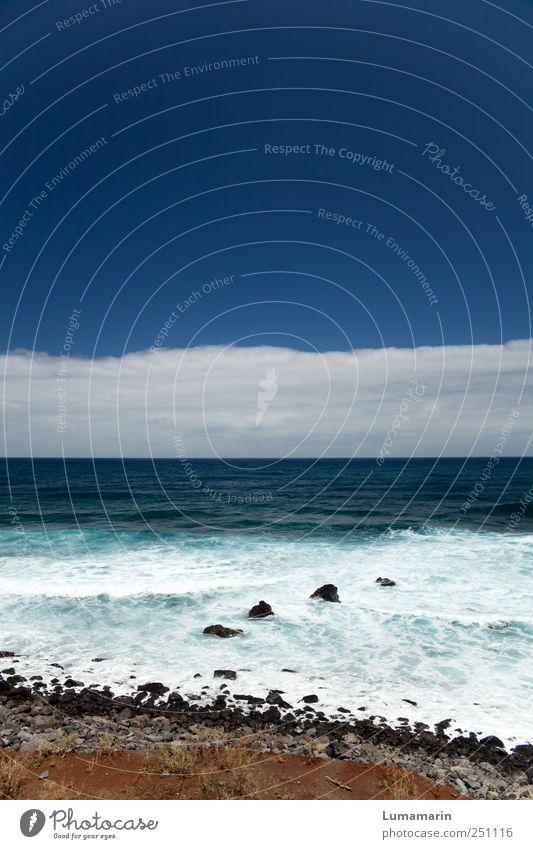 Übersee Himmel Natur schön Ferien & Urlaub & Reisen Meer Wolken Einsamkeit Ferne Freiheit Umwelt Landschaft Stein Küste Stimmung Horizont groß