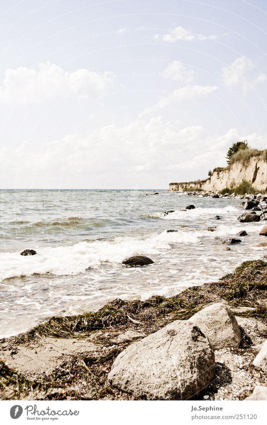 Urlaub Umwelt Natur Landschaft Himmel Wolken Sommer Schönes Wetter Wellen Küste Strand Ostsee natürlich ruhig Erholung Ferien & Urlaub & Reisen Freiheit