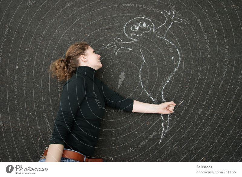 Der heilige Geist Hand Gesicht Kopf Haare & Frisuren Freizeit & Hobby Arme fliegen Beton Fröhlichkeit Neugier festhalten Freundlichkeit fangen Geister u. Gespenster Pullover Halloween