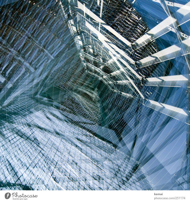 [CHAMANSÜLZ 2011] Der Turm der Türme blau hoch verrückt außergewöhnlich viele Bauwerk Stahl Doppelbelichtung Gitter Sehenswürdigkeit Strebe Aussichtsturm