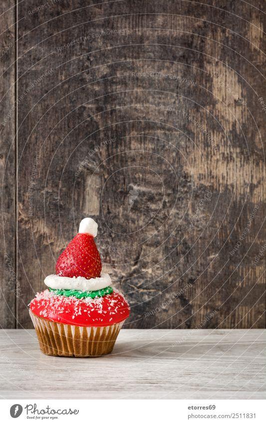 Chirstmas Muffins Lebensmittel Dessert Süßwaren Gesunde Ernährung Ferien & Urlaub & Reisen Dekoration & Verzierung Feste & Feiern Weihnachten & Advent Ornament