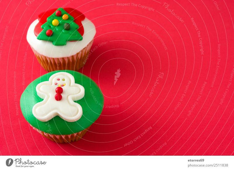 Chirstmas Muffins Kuchen Lebensmittel Foodfotografie Speise Backwaren Dessert Gesunde Ernährung Dekoration & Verzierung Feste & Feiern Weihnachten & Advent