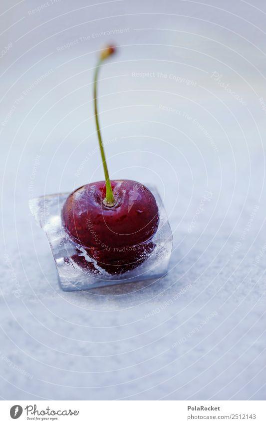 #A# Ice Ice Cherry Kunst ästhetisch Kirsche gefroren Eis Speiseeis Sommer Cocktail Sommerurlaub sommerlich Sommertag Eiswürfel Sommerabend Party Partyservice