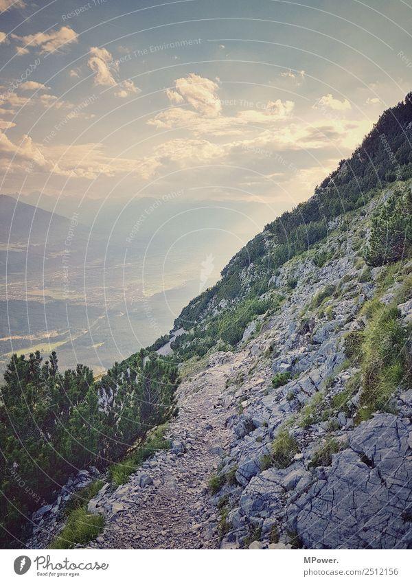 alpenweg Natur Ferien & Urlaub & Reisen Umwelt Freiheit Felsen Freizeit & Hobby wandern Aussicht Abenteuer Lebensfreude Schönes Wetter Fußweg Alpen Österreich