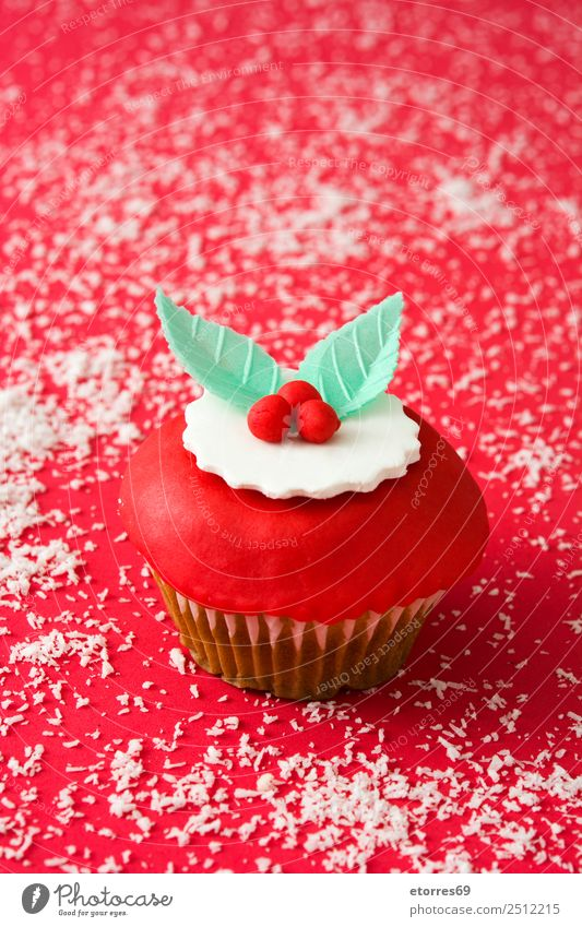 Chirstmas Muffins Lebensmittel Foodfotografie Speise Backwaren Dessert Gesunde Ernährung Dekoration & Verzierung Feste & Feiern Weihnachten & Advent Ornament