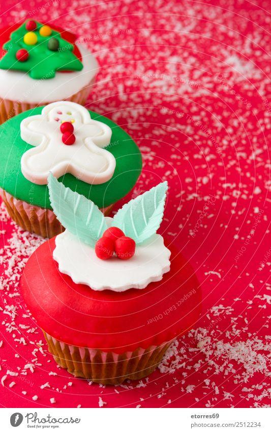 Chirstmas Muffins Kuchen Lebensmittel Speise Foodfotografie Backwaren Dessert Gesunde Ernährung Dekoration & Verzierung Feste & Feiern Weihnachten & Advent Baum