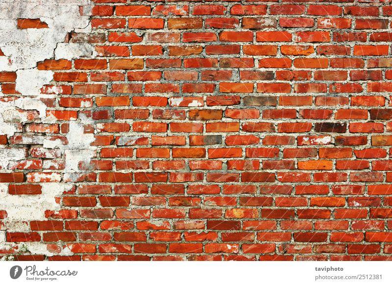 verwitterte Ziegelwandkulisse Design Gebäude Architektur Fassade Stein Beton Rost alt dreckig retro braun rot weiß Hintergrund Wand Oberfläche Baustein Grunge