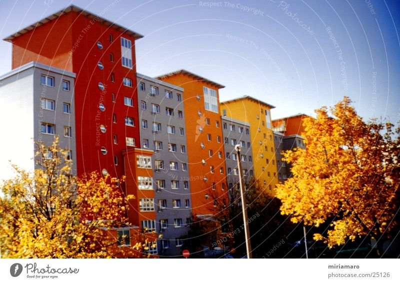 Formen und Farben Stadt Haus Farbe Gebäude Architektur modern