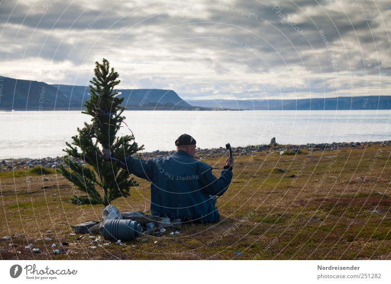 Weihnacht mit NR Mensch Mann Natur Weihnachten & Advent Meer Freude Erwachsene Landschaft sprechen Küste Feste & Feiern sitzen Dekoration & Verzierung Lifestyle