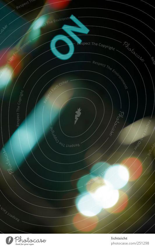 ON blau grün rot schwarz Beleuchtung modern Energiewirtschaft Schriftzeichen Zukunft Technik & Technologie Buchstaben Informationstechnologie digital online Leuchtdiode Fortschritt