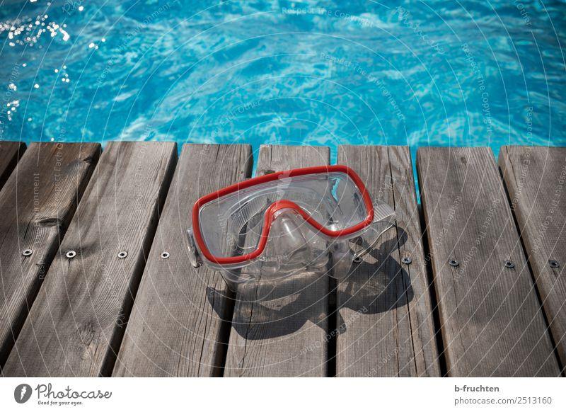 Taucherbrille Leben Schwimmbad Schwimmen & Baden Ferien & Urlaub & Reisen Sommerurlaub Sonnenlicht Brille Freizeit & Hobby Freude tauchen Schwimmsport blau