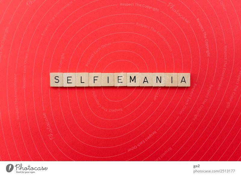 Selfiemania Freizeit & Hobby Spielen Jugendkultur Medien Neue Medien Internet Schriftzeichen Kommunizieren rot eitel Gesellschaft (Soziologie) Identität