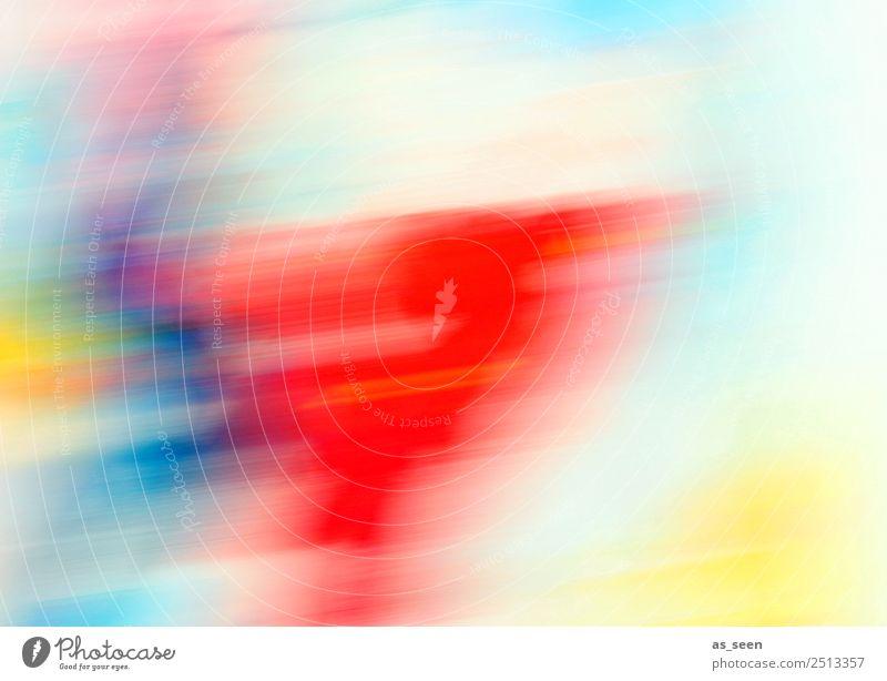 Summertime Stil Jahrmarkt Kunst Kunstwerk Tanzen Party Sommer Bewegung ästhetisch Coolness Fröhlichkeit modern positiv blau mehrfarbig gelb rot türkis weiß