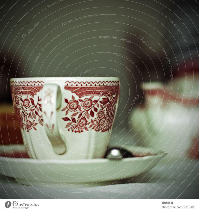 Kasse Taffee? Häusliches Leben Tasse Untertasse Geschirr Löffel Dekoration & Verzierung Kaffee Nostalgie Kaffeetasse Kaffeetrinken Farbfoto Innenaufnahme